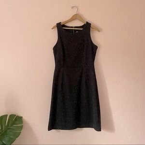 Speckled wool dress